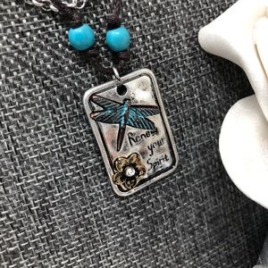 Jewelry - Dragonfly Pendant Necklace & Earring Set